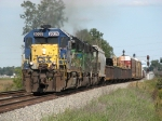 CSX 8025 leading Q349 as its starts south on the Columbus Sub