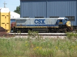 CSX 9302 looks like it was involved in a little mishap