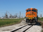 Industry and agriculture contrast as BNSF 6013 waits out the weekend