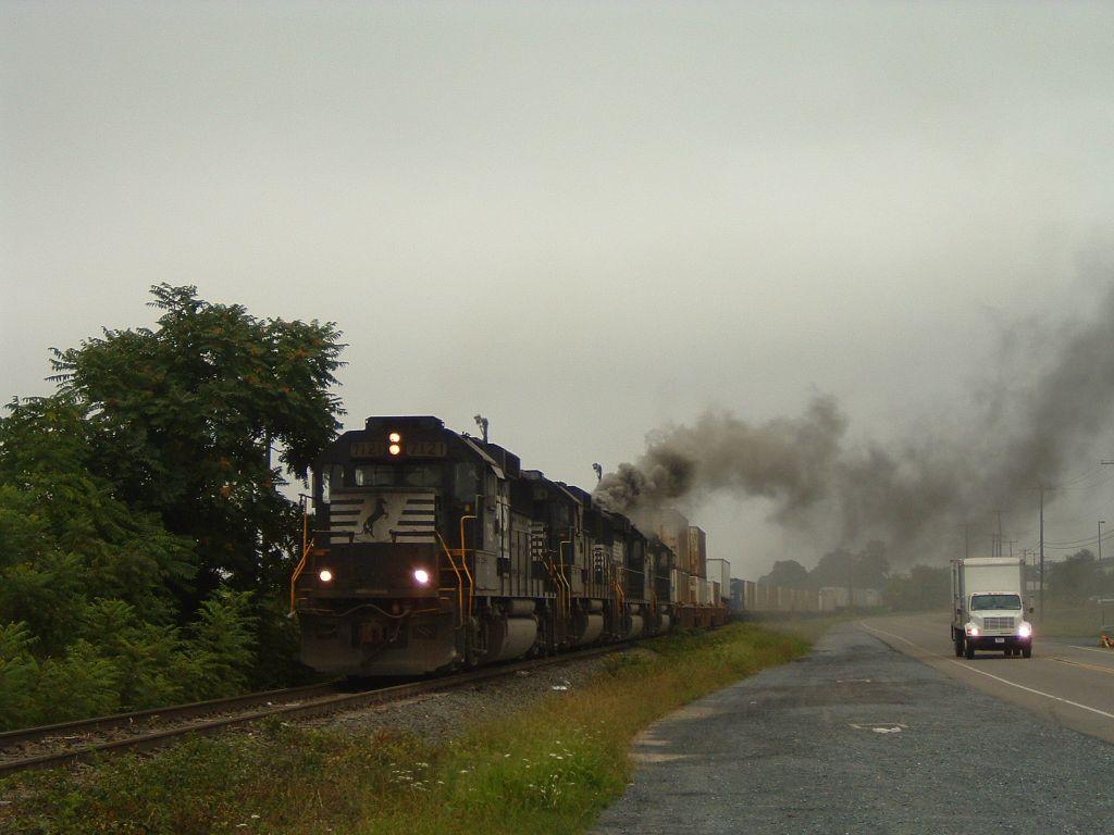 Blackened diesel exhaust
