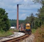 B054 work train heads east