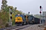 CSXT 4551 splits the signals