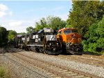 NS 5271 and 5278; BNSF 6841