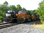 NS 5271; BNSF 6841 and 5131