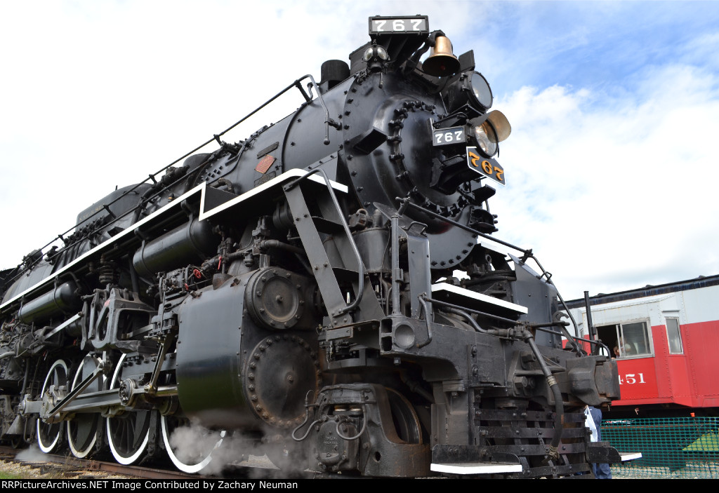 Nickel Plate 765 as Nickel Plate 767. FWRHS Open House, 2016