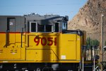Close Up Shot of the Cab of UP 9051 SD-70AH.