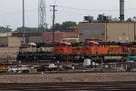BNSF9698, BNSF9299 and BNSF5784 outside the Depot