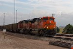 BNSF9126 and BNSF9992 leaving the south end of the yard
