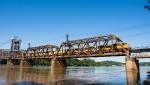 Broader shot of a manifest crossing the Arkansas River