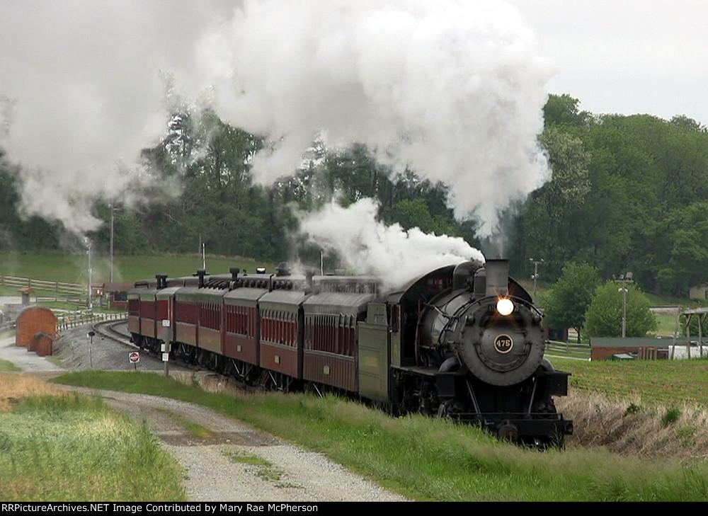 Strasburg Rail Road 4-8-0 #475