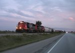 Pacing a northbound Canadian National freight