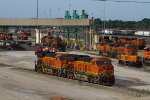BNSF3924 and BNSF3914 and others outside the Diesel Depot
