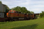 BNSF4044 and BNSF8007 passing Peck Park