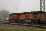 BNSF5768 and BNSF5337 passing the station