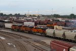 BNSF3835, BNSF8196 and BNSF8384 waiting to depart the yard