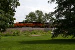 BNSF3824 and CREX1211 passing Peck Park