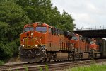 BNSF6821, BNSF6744 and BNSF1105 passing Peck Park