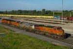 BNSF4111, CREX1412, BNSF5303 and BNSF7844 in the yard