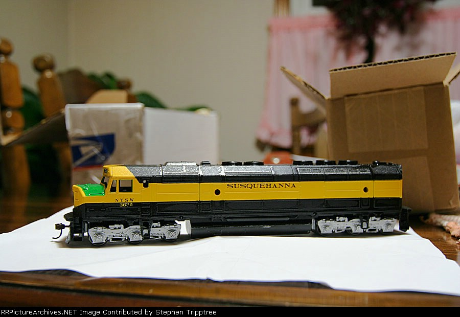 NYSW 3636 in HO scale, its an FP45.  At time of purchase didn't know there was a difference.