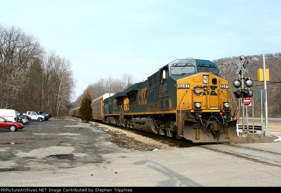 CSX 5247/x268 detour rumbles thru north jersey.