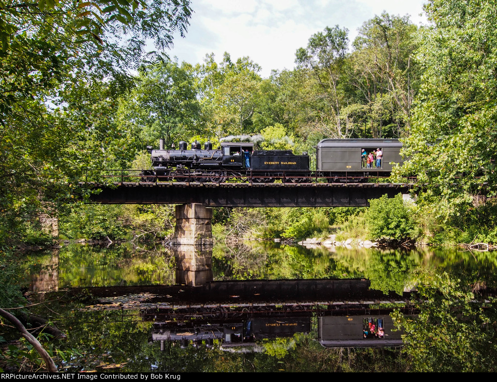 EV 11 crosses the Frankstown Branch of the Juniata River