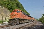 BNSF 8478 Sits tied down in the siding for the weekend.