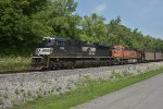NS 1159 Slow's for a slow order on the BNSF Hannibal Sub.