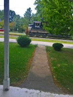 Approached passed our front home! As seen NS K06 (extra) local southbound train