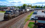 Northbound NS oil train at Marion, Ohio.