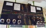 The original track board for AC Tower....fully restored and set up to simulate todays traffic through Marion.
