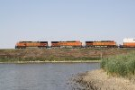 Westbound Doublestack Passing the City Lake