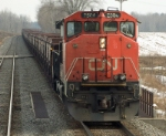 CN 2504 with ore empties