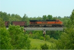 BNSF 1061 on the Nemadji River bridge.