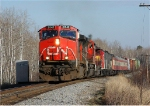 CN 2542 leading train Q118