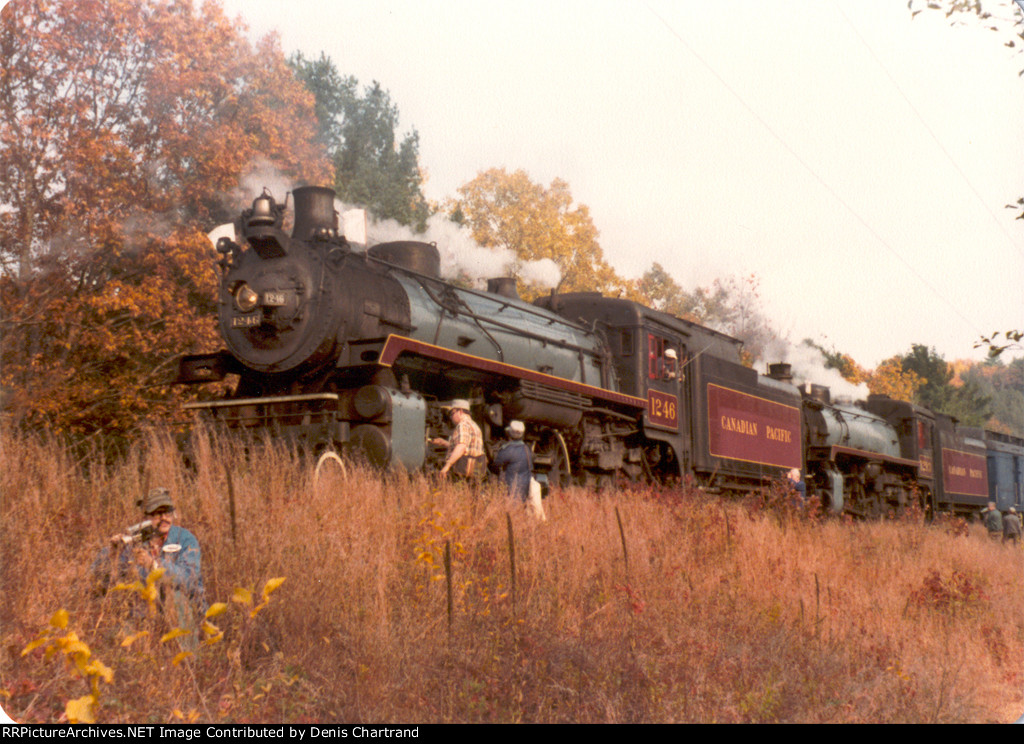 CPR 1246, 1293 near Steamtown, Bellows Falls, VT