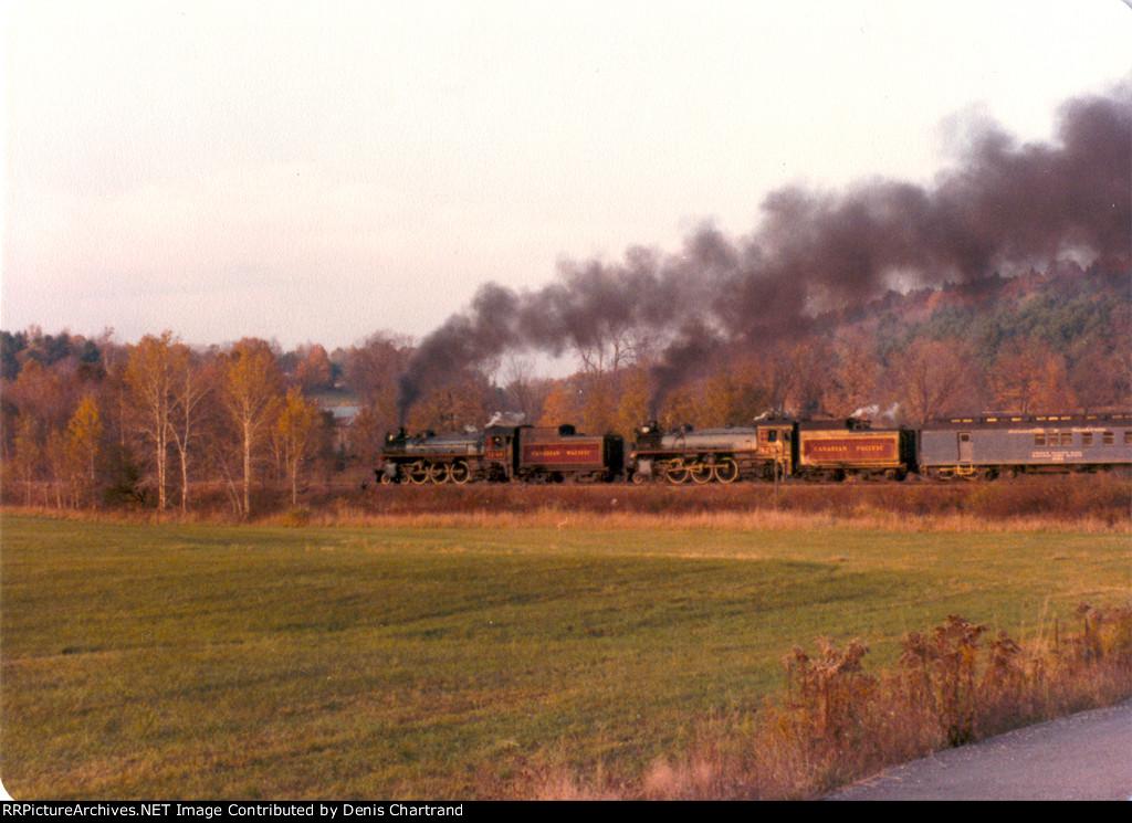 CPR 1246, 1293 near Steamtown, Bellows Falls, VT