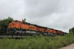 BNSF 5899, 7628, and 6818