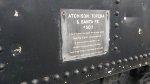 ATSF 5011 Builders plate
