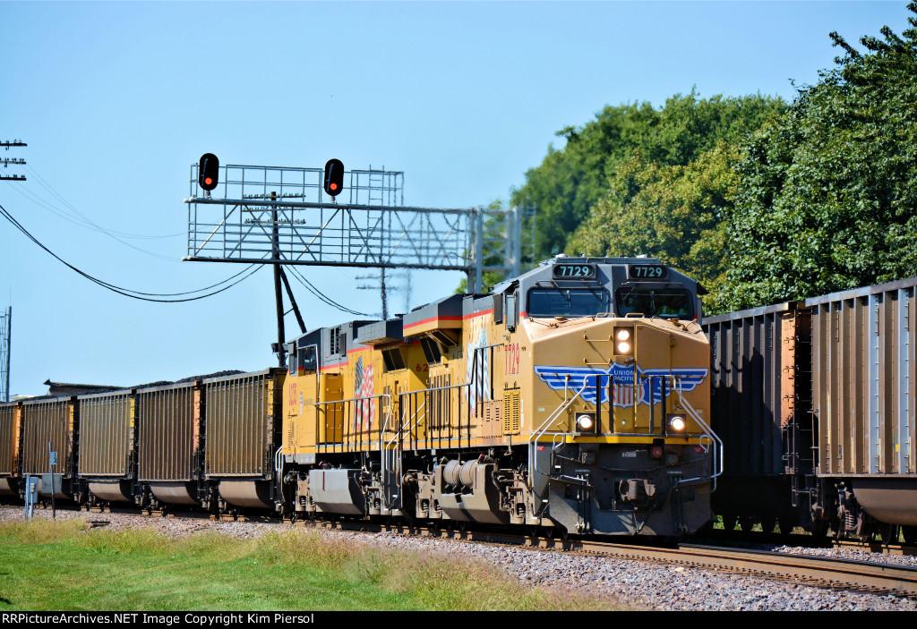 UP 7729 Coal Loads