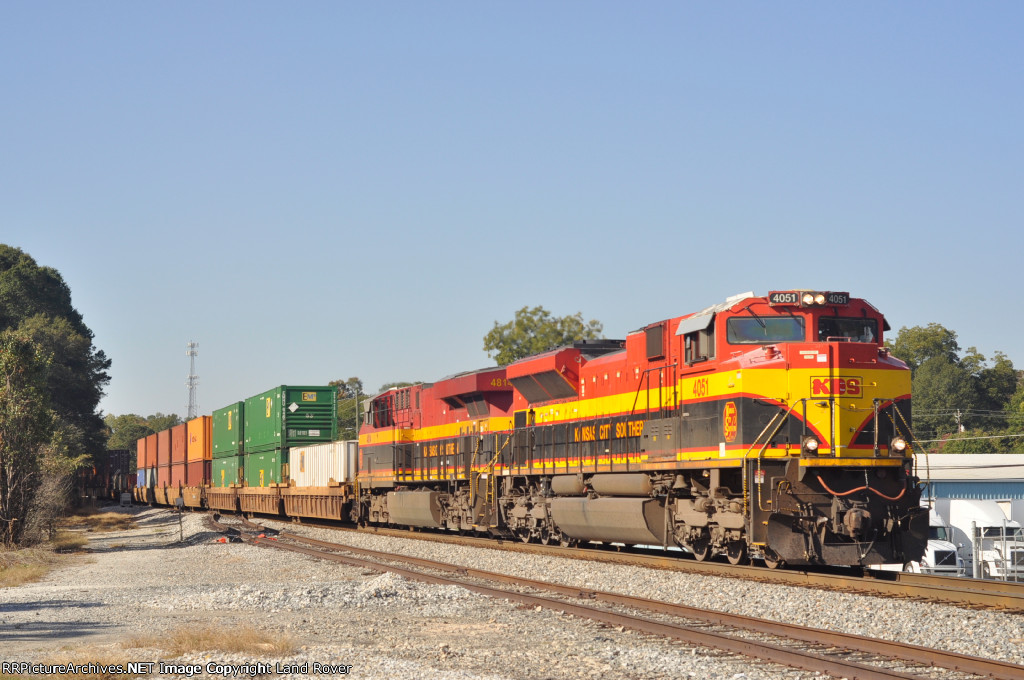 KCS 4051 On NS 24 E Southbound