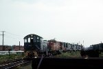 Alco S-1 #1007 and a B&M lineup.  Rigby Yard