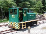 #52 is a little gas loco built by Plymouth.