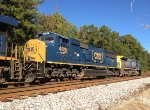 CSX SD70MAC 4818 and C40-8W 7351