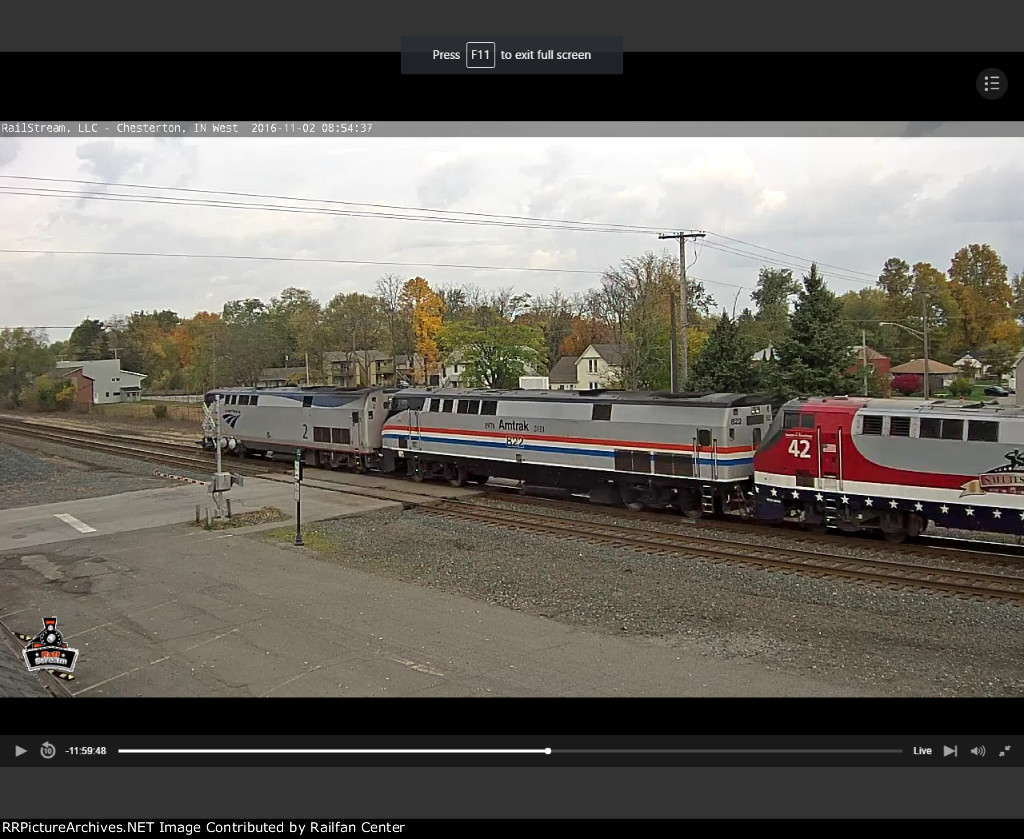 Amtrak 29 with 2, 822 & 42 and MILW private cars!
