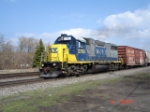 CSX 2763 (GP38-2) & SOU Boxcar #584855 WB on the Shore