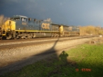 CSX 5245 & CSX 5222 EB on the #1 Track following the storm