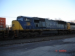 CSX 752 (SD70MAC) in between an SD40-2 & a SD50 heading WB