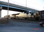 CSX 8603, CSX 752 & CSX 8832 head WB under the Midler Ave. Bridge