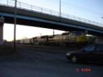 CSX 7344 (C40-8W) & BNSF 9435 (SD70MAC) head EB into DeWitt Yard