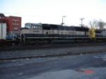 BNSF 9435 (SD70MAC) in cream & forest green paint heads EB into DeWitt Yard